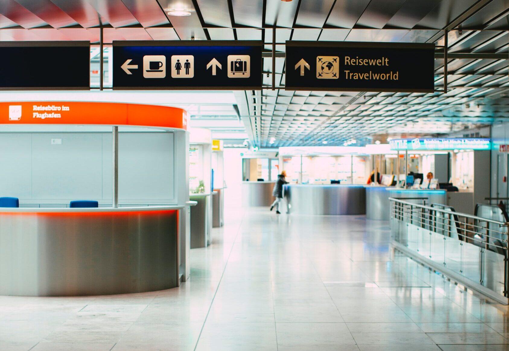 Corona virus empty airport
